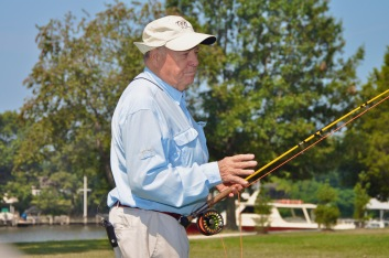 Lefty as passionate as ever about teaching the essentials of the fly cast. Photo by Temple Fork Outfitters.